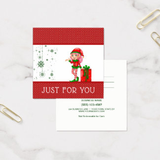 Just For You Elf Christmas Gift Card Certificate