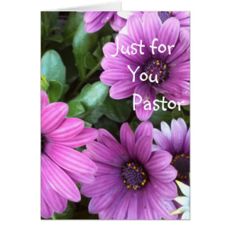 Just for you Pastor Card