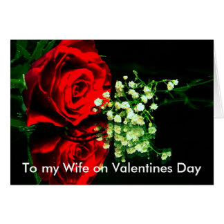 just for you, To my Wife on Valentines Day Card