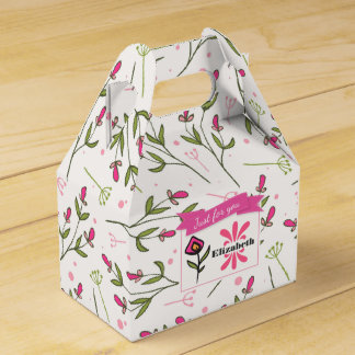 Just for you Wildflower with Pink Orange Petals Favor Box