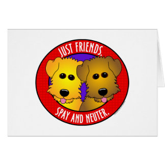 Just Friends-Dogs Greeting Card