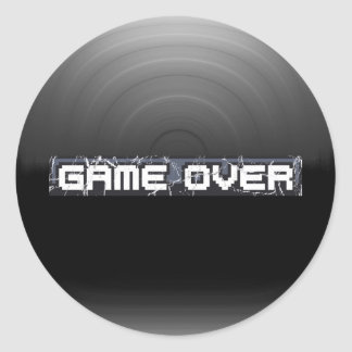 Just Game Over Classic Round Sticker