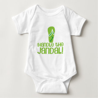 just handle the jandal! KIWI New Zealand funny say Baby Bodysuit