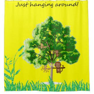 Just hanging around children's shower curtain