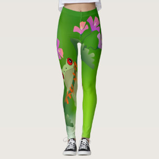 Just Hanging Around Frog Leggings