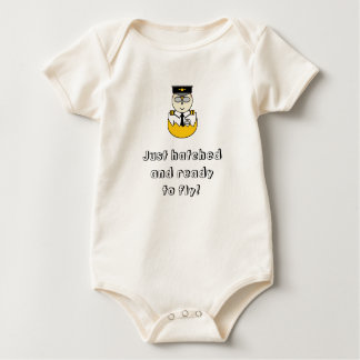 Just hatched and ready to fly baby grow baby bodysuit