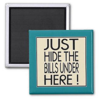 Just hide the bills square magnet
