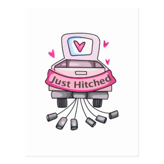 JUST HITCHED POSTCARD