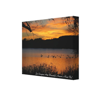 Just Imagine How Beautiful Heaven Must Be! Canvas Print