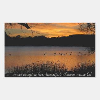 Just Imagine How Beautiful Heaven Must Be! Sticker