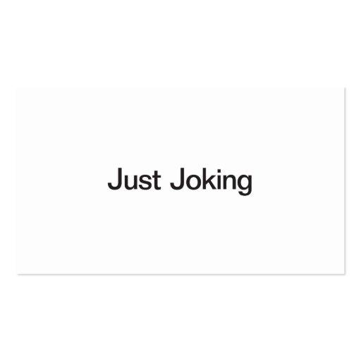 Just Joking Business Card