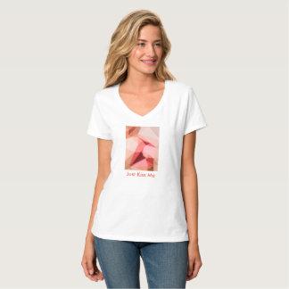 Just Kiss Me Women's Hanes Nano V-Neck T-Shirt