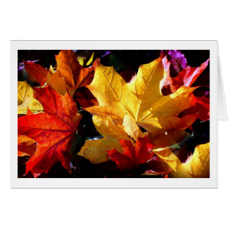 JUST LEAVES CARD