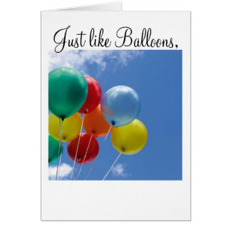 Just like Balloons, Card