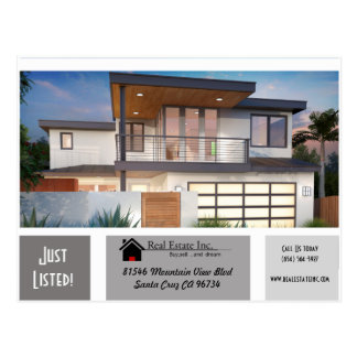 JUST LISTED 3 greys of shade Real Estate postcard