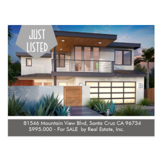 JUST LISTED  Real Estate postcard
