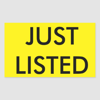 """JUST LISTED"" Stickers for Real Estate Signs"