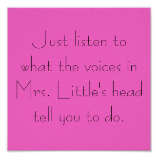 Just Listen to the Voices... Poster