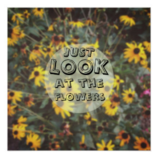 Just Look At The Flowers Funny Geeky Posters