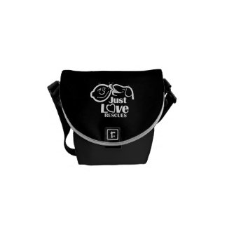 Just Love Rescues Dog Mini Messenger Bag