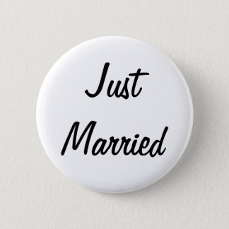 Just Married Badge 2 Inch Round Button