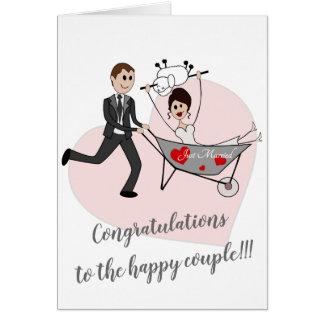 Just married - Balkan wedding greeting card