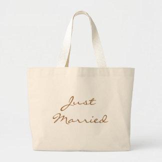 Just Married Beach Bag