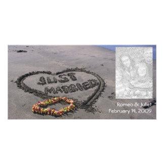 Just Married Beach Card