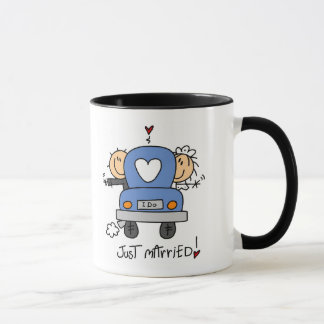 Just Married Bride and Groom T-shirts and Gifts Mug