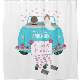 Just Married Bride and Groom Wedding Car