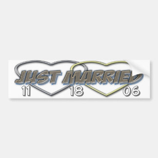 Just married bumper (change the date ) bumper sticker