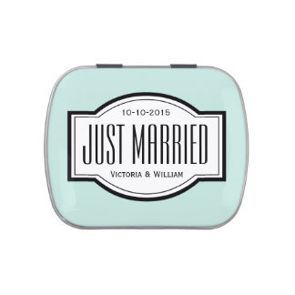 Just Married Candy Mint Wedding Favor Tin Gift