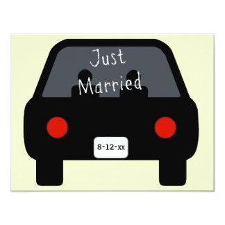 "Just Married Car 4.25"" X 5.5"" Invitation Card"