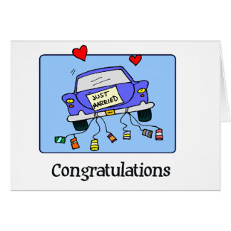 Just Married -  Car Card