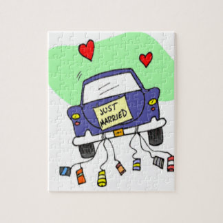 Just Married Car Jigsaw Puzzle