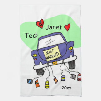 Just Married Car Towel