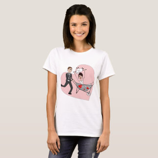 Just married - cartoon thsirt for her T-Shirt