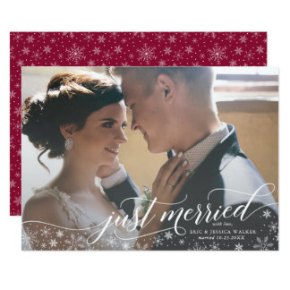 Just Married Christmas Card for Newlyweds