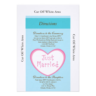Just Married Classic Car Wedding Directions Card