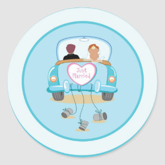 Just Married Classic Car Wedding Envelope Seal