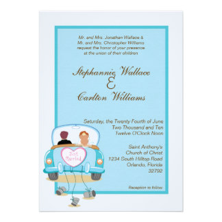 Just Married Classic Car Wedding Invitation