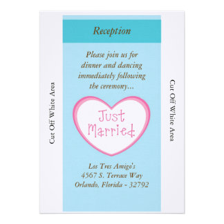 Just Married Classic Car Wedding Reception Card