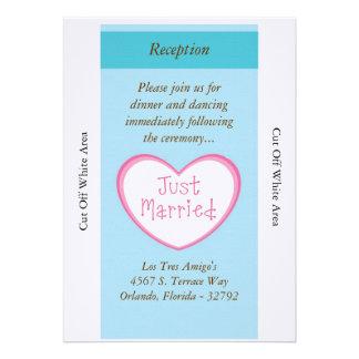 Just Married Classic Car Wedding Reception Card