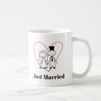 Just Married Coffee Mug Cup