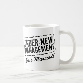 Just married coffee mug | Under new management