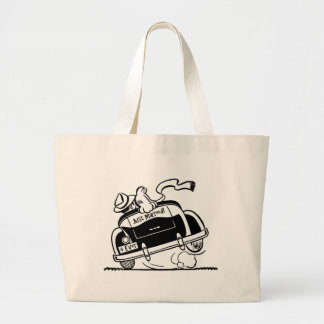 Just Married Couple in Car Large Tote Bag