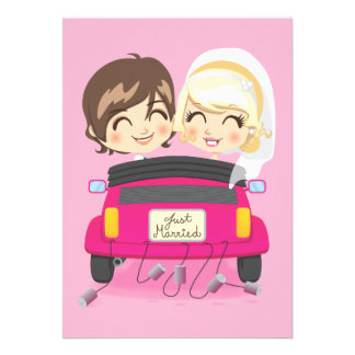 Just Married Couple Personalized Invitations