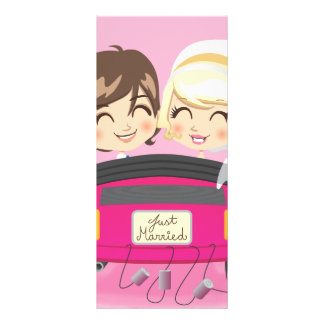 Just Married Couple Custom Rack Card