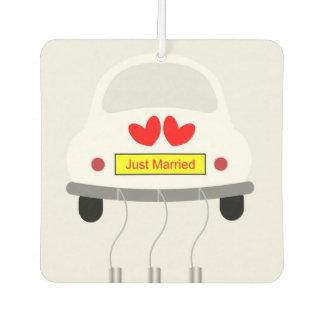 """Just Married"" Custom Air Freshener, New Car"