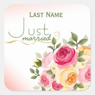 Just Married Custom Envelope Stickers